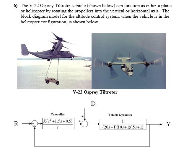 6 the v 22 osprey tiltrotor vehicle shown below chegg com rh chegg com Ships and Boat Diagram Wave Power Diagram