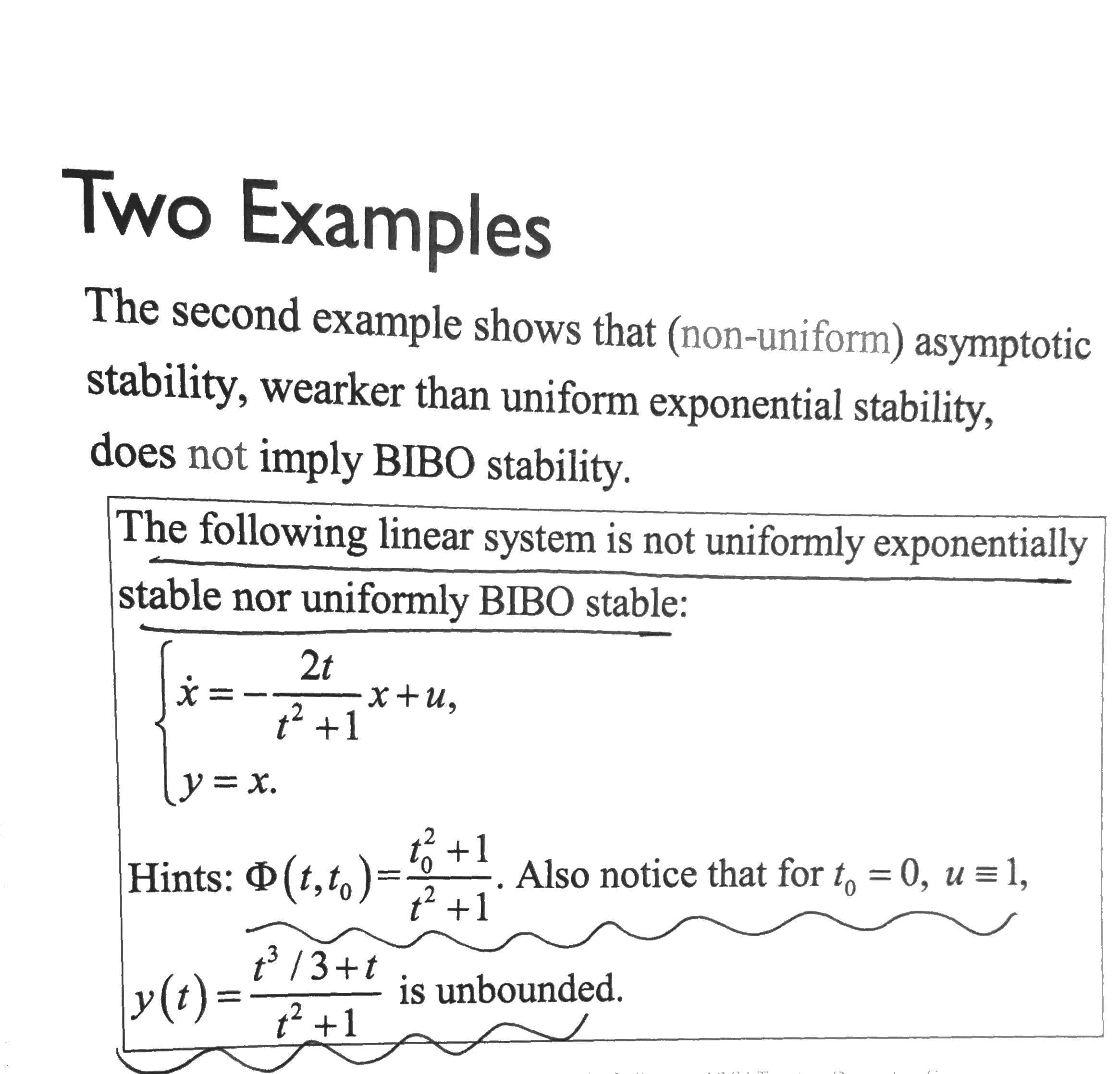 Solved The Second Example Shows That Non Uniform Asympt