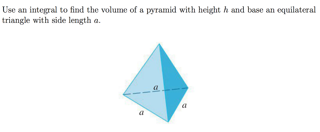 Solved Use An Integral To Find The Volume Of A Pyramid Wi