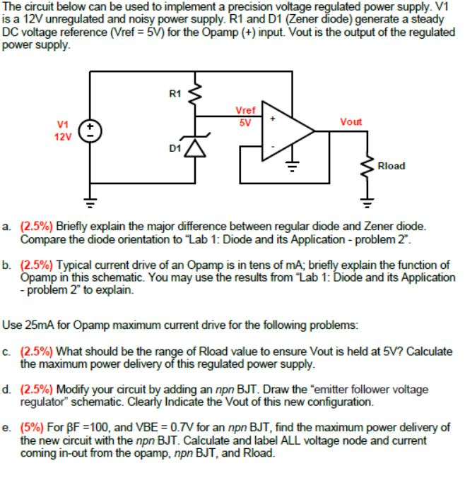 solved the circuit below can be used to implement a preci rh chegg com