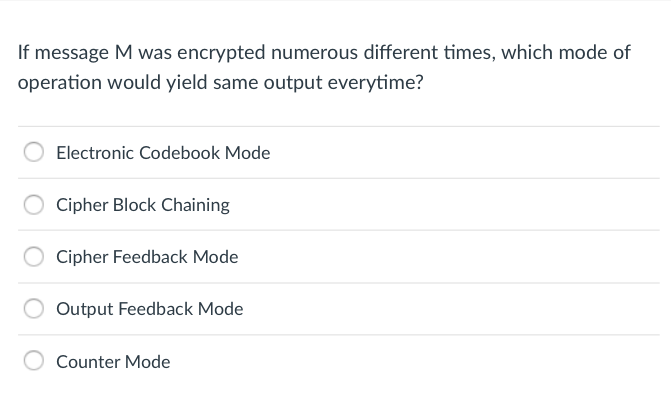 Solved: If Message M Was Encrypted Numerous Different Time