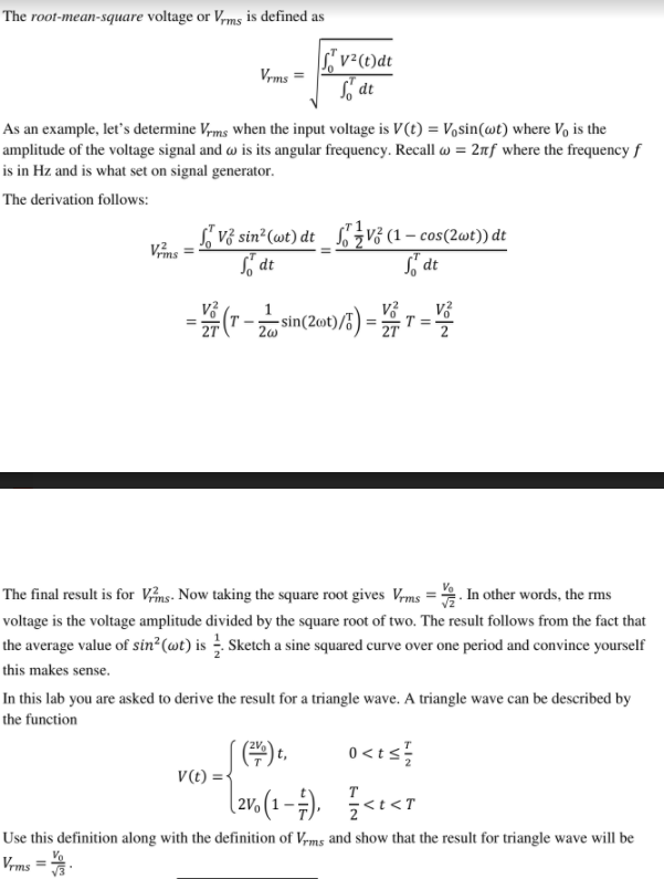 Solved: The Root-mean-square V...