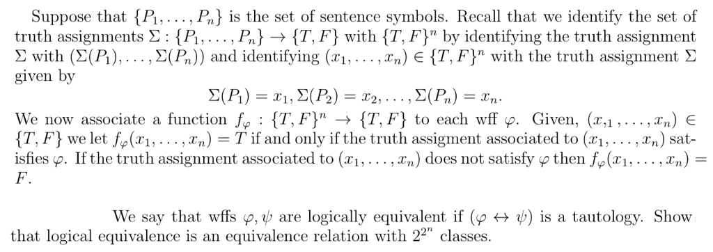 Solved Suppose That P P Is The Set Of Sentence Symbol