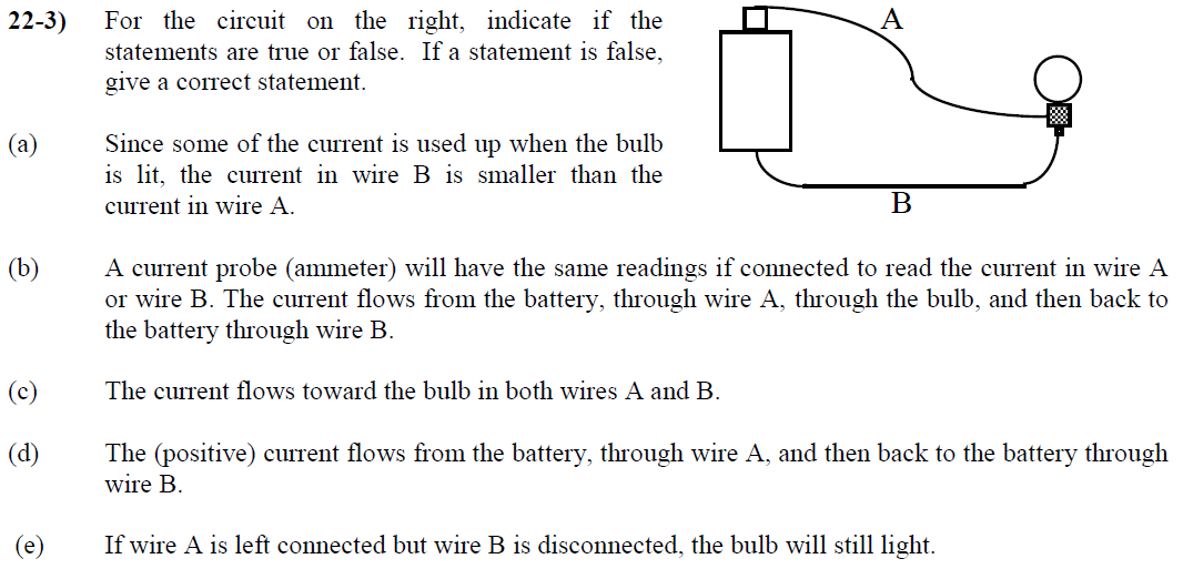 Solved: For The Circuit On The Right, Indicate If The Stat ...