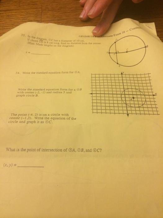 Solved Geometry Alternate Exam 10 In The Diagram C Ha