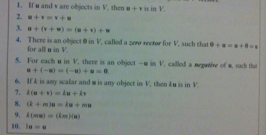 Image for 2. Let V be the set of all ordered pairs of real numbers, and Consider the following addition and scalar multi