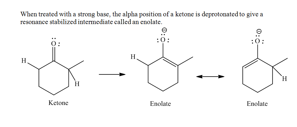 Solved Draw Both Enolates Formed When The Ketone Is Treat
