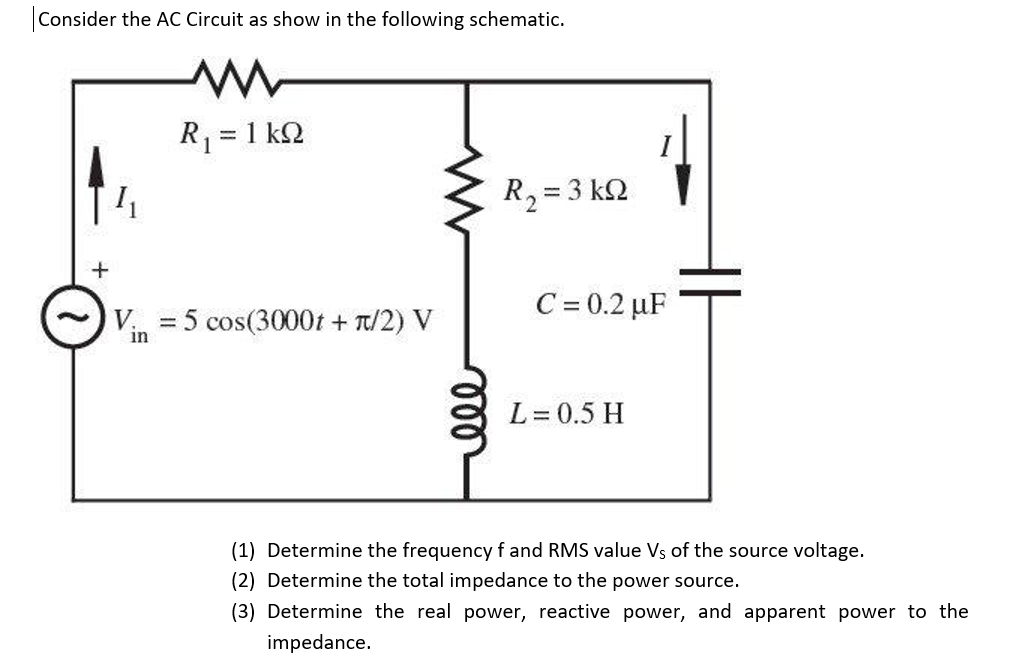 solved consider the ac circuit as show in the following s rh chegg com