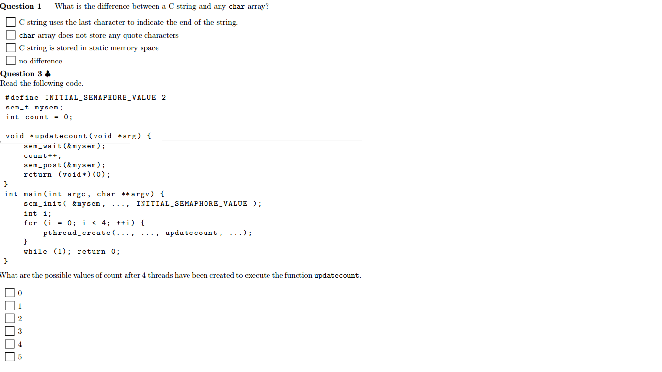Solved What Is The Difference Between A C String And Any