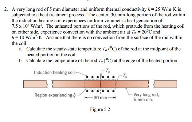 solved a very long rod of 5 mm diameter and uniform therm