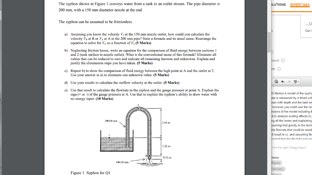 Advanced physics archive september 21 2017 chegg the syphon shown in figure 1 conveys water from a tank to an outlet stream fandeluxe Images