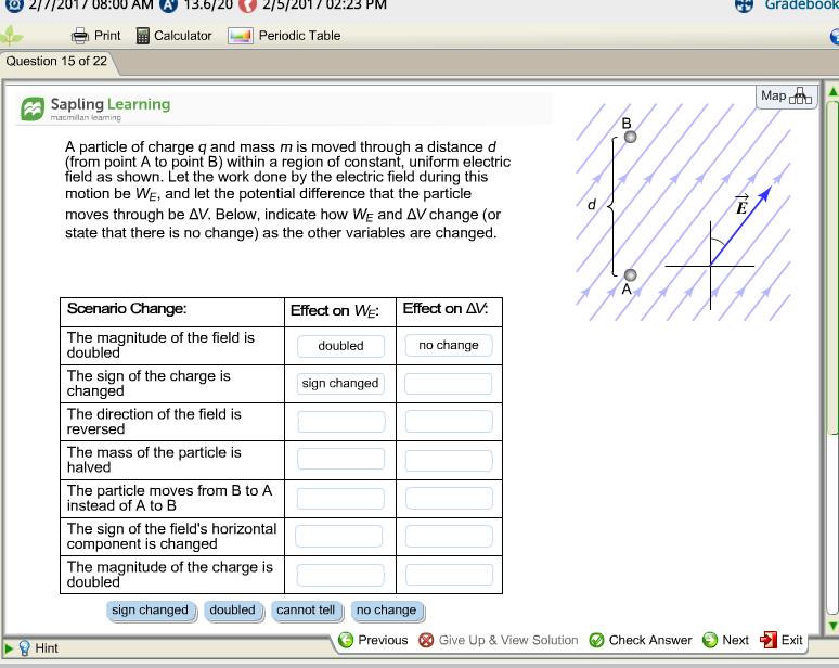 Question: 2/1/2011 08:00 AM A 13.6120 2/5/2017 02:23 PM Gradebook Print M  Calculator Periodic Table Questio.