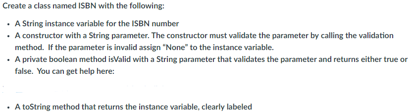 Computer science archive december 01 2017 chegg create an ebook class with the following instance variables author title price and isbn one constructor with 4 parameters you must validate the price fandeluxe Images