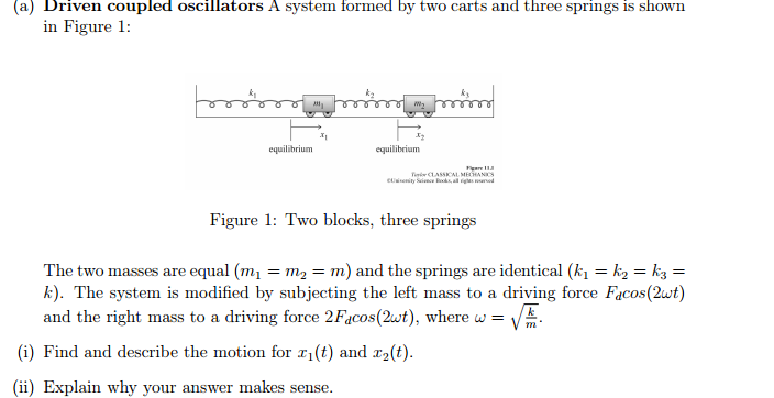Solved: Driven Coupled Oscillators A System Formed By Two