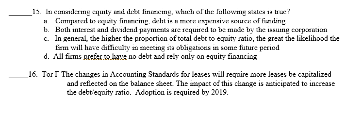 an alternative to traditional equity and debt financing is leasing leasing is undertaken primarily f However, for a unicorn, which has been able to raise capital in the private markets at attractive valuations, a direct listing may be a good alternative a listing on a national securities exchange will provide much-needed liquidity for employees, early investors, and even venture capital and private equity sponsors.