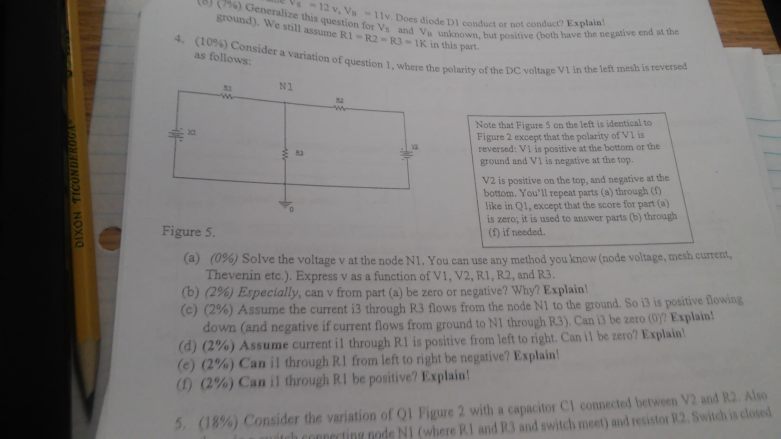 Solved: (7%) Generalize This Question For V_s = 11v. Does ...