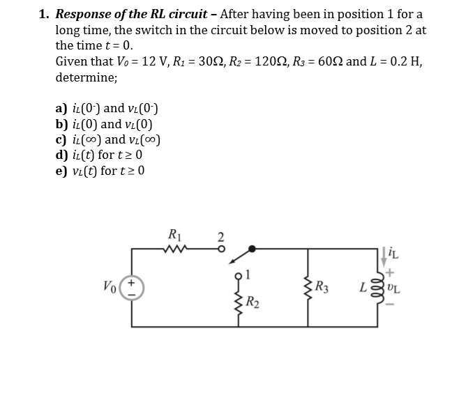 Physics archive march 12 2018 chegg 1 response of the rl circuit after having been in position 1 for a ccuart Image collections