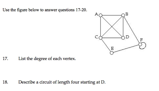 Solved: Use The Figure Below To Answer Questions 17-20. 17 ...