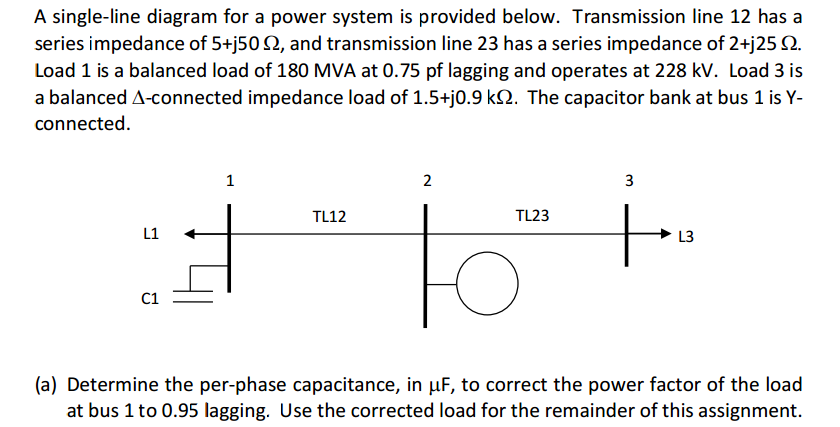 Solved a single line diagram for a power system is provid a single line diagram for a power system is provided below transmission line 12 ccuart Images