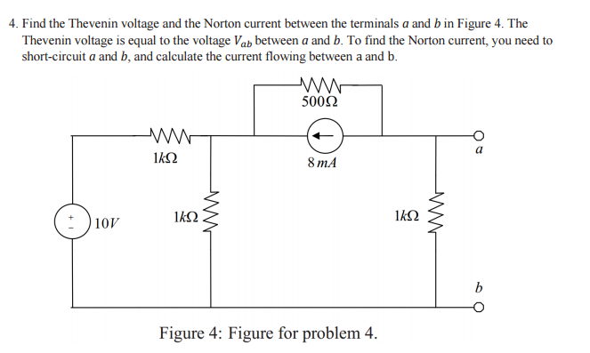 solved find the thevenin voltage and the norton current b rh chegg com