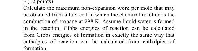 Calculate The Maximum Non-expansion Work Per Mole