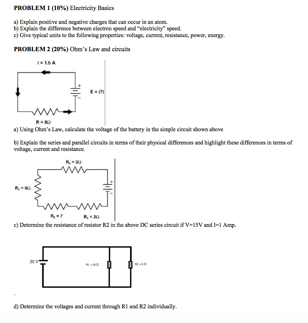 Solved Explain Positive And Negative Charges That Can Occ Series Parallel Circuit