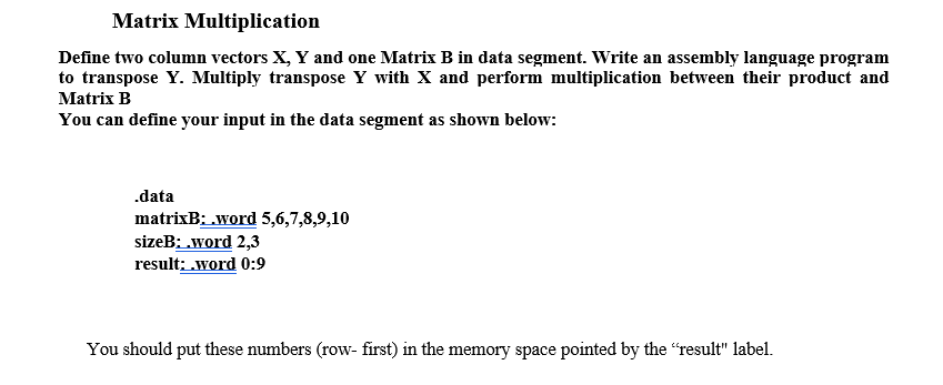 Please Use MIPS Assembly Language For This Program      Chegg com
