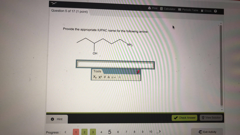 Chemistry archive march 10 2018 chegg print b calculator periodic table ebook o question 5 of 17 1 point fandeluxe Images