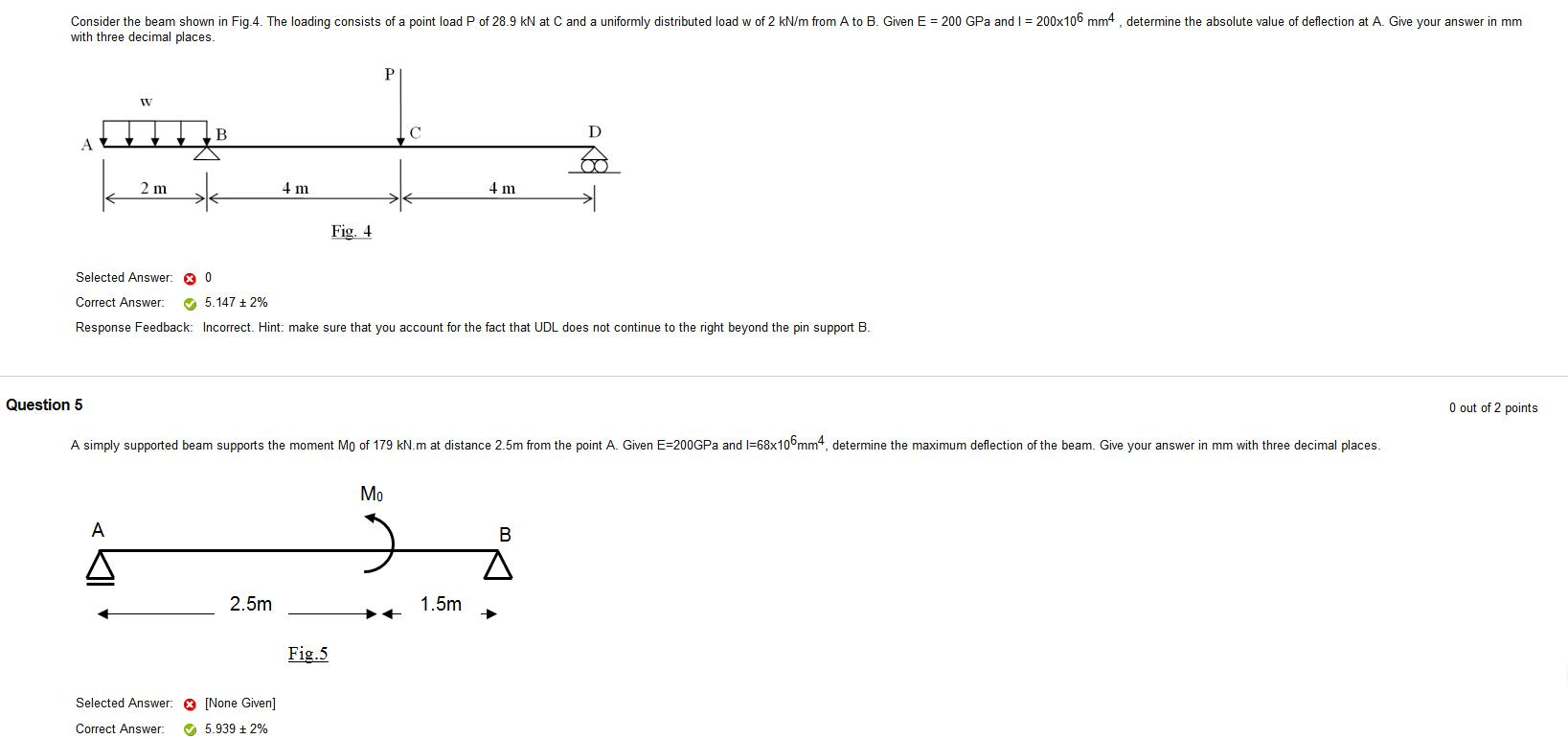 Solved Use These Formula How Can I Slove The Deflection O Beam Diagram And Formulas Given E 200 Gpa 200x106 Mm4 Consider Shown In Fig