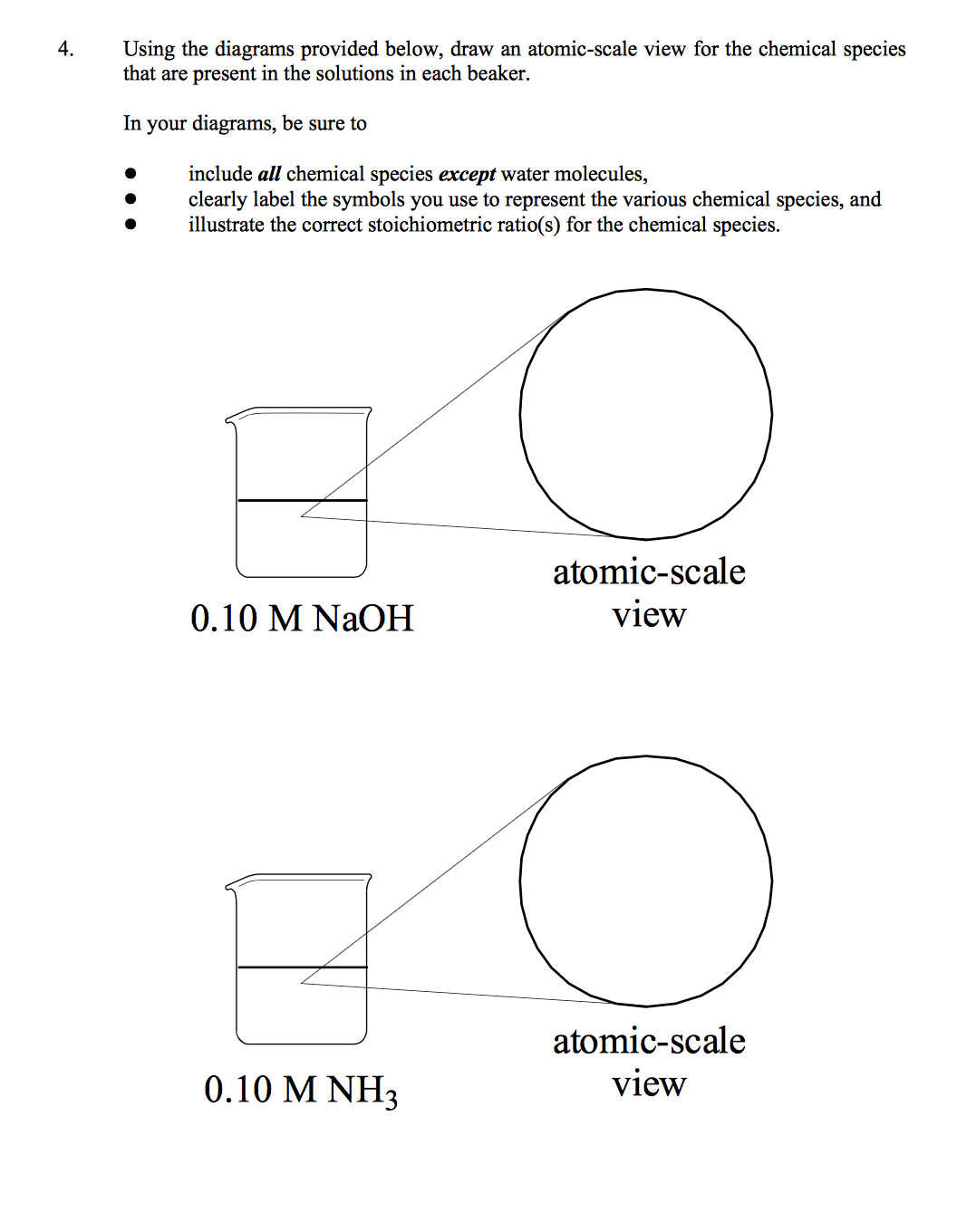 Solved 4 using the diagrams provided below draw an atom using the diagrams provided below draw an atomic scale view ccuart Images