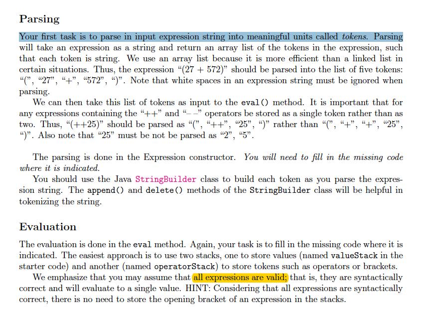 Import Java util Stack