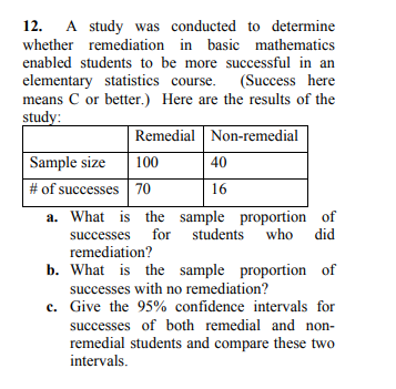 Solved: 12  A Study Was Conducted To Determine Whether Rem