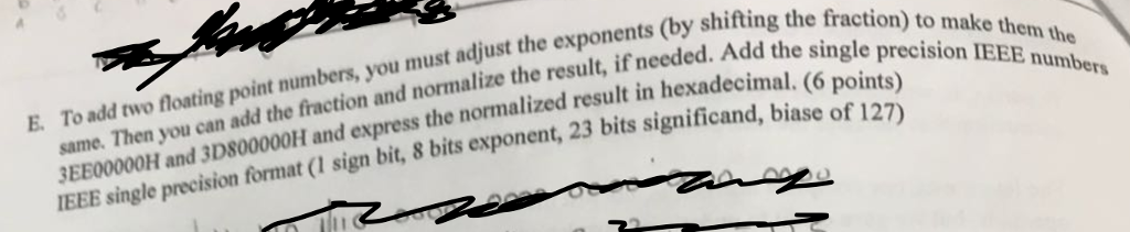 Nust Adjust The Exponents (by Shifting The F Fract