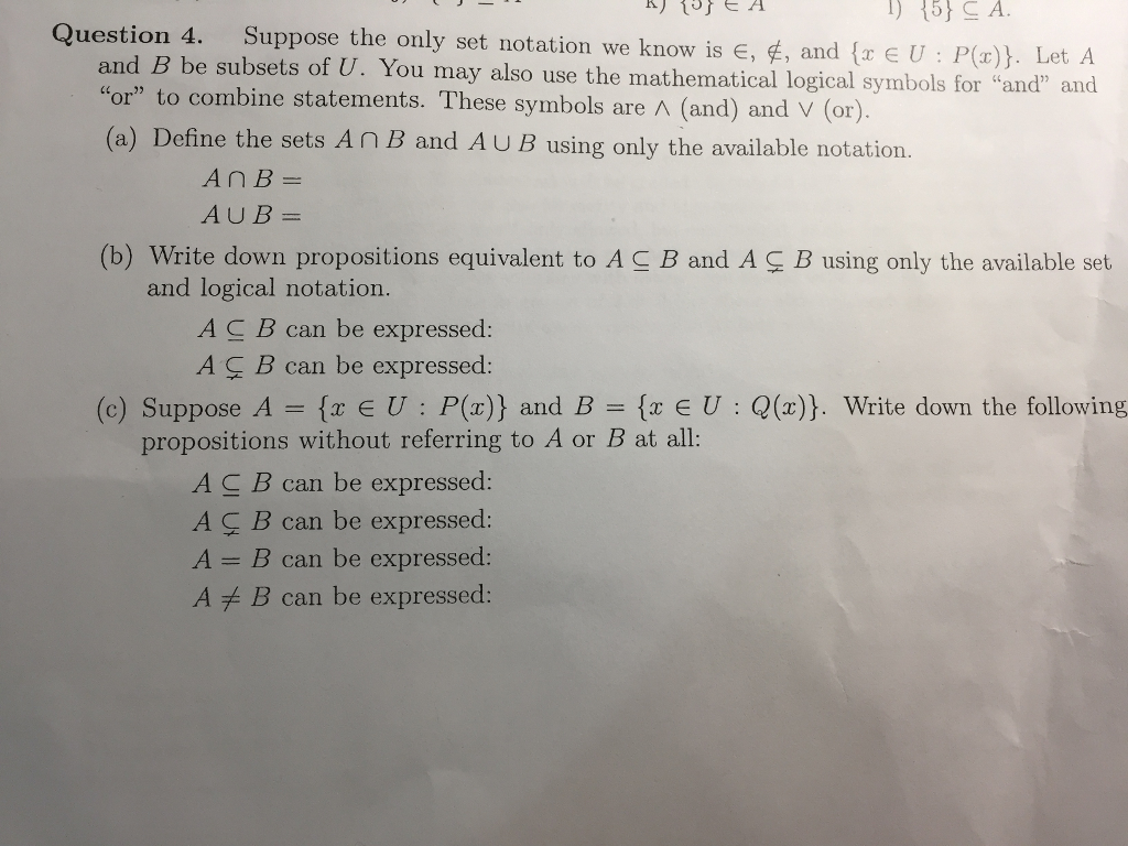 Advanced math archive august 23 2017 chegg 5 s a question 4 and b be subsets of u you may biocorpaavc
