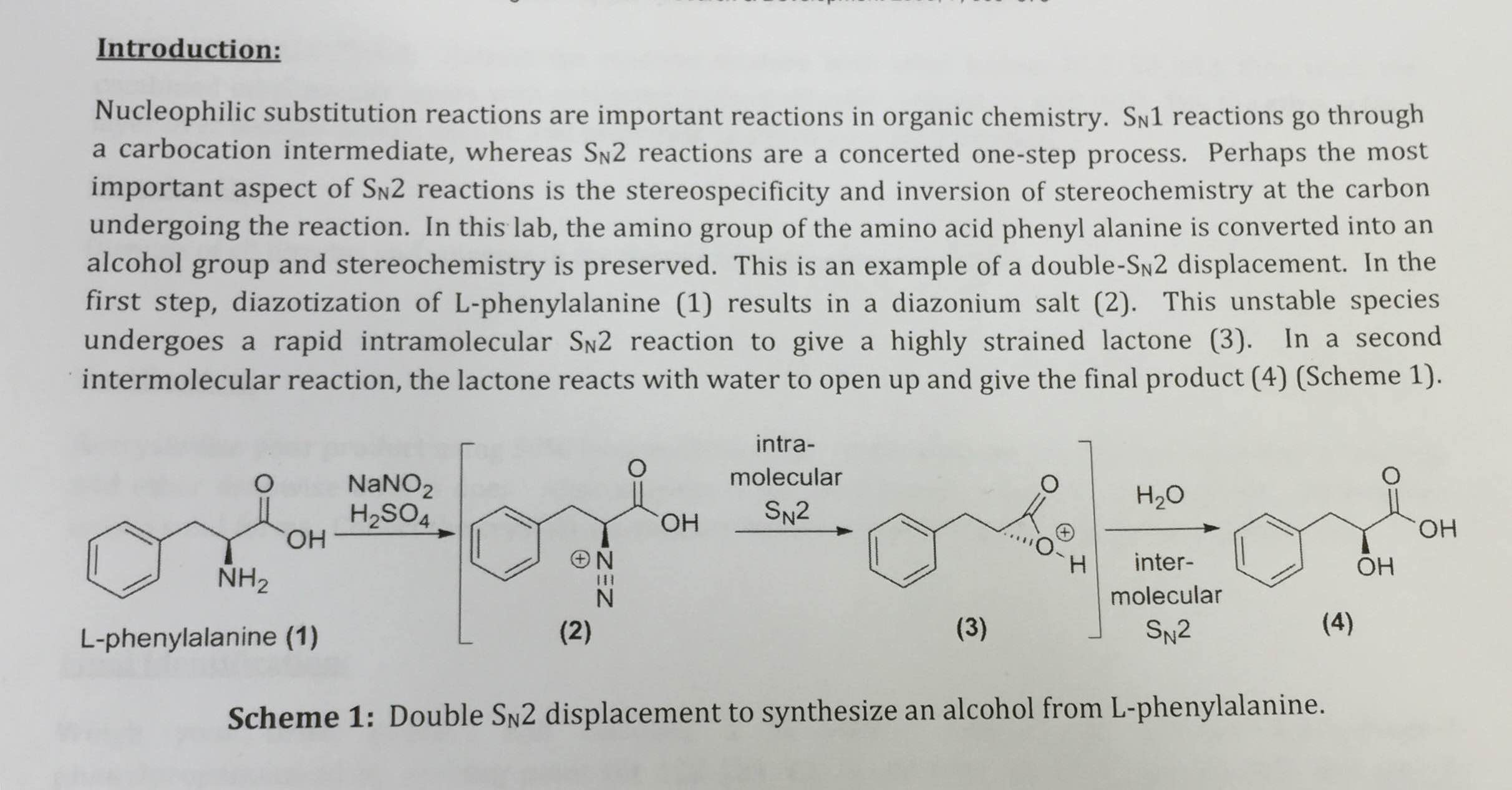 an introduction to the nucleophilic substitution reactions Introduction to aliphatic nucleophilic substitution aliphatic nucleophilic substitution is a mouthful, but each piece tells you something important about this kind of reaction in substitution reactions, one piece of a molecule is replaced by another.
