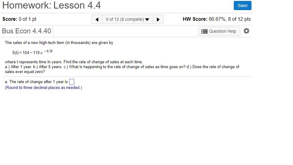 solved homework lesson 4 4 score 0 of 1 pt bus econ 4 4