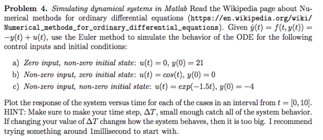 Solved the wikipedia page about nu problem 4 simulating question the wikipedia page about nu problem 4 simulating dynamical systems in matlab read merical method malvernweather Images