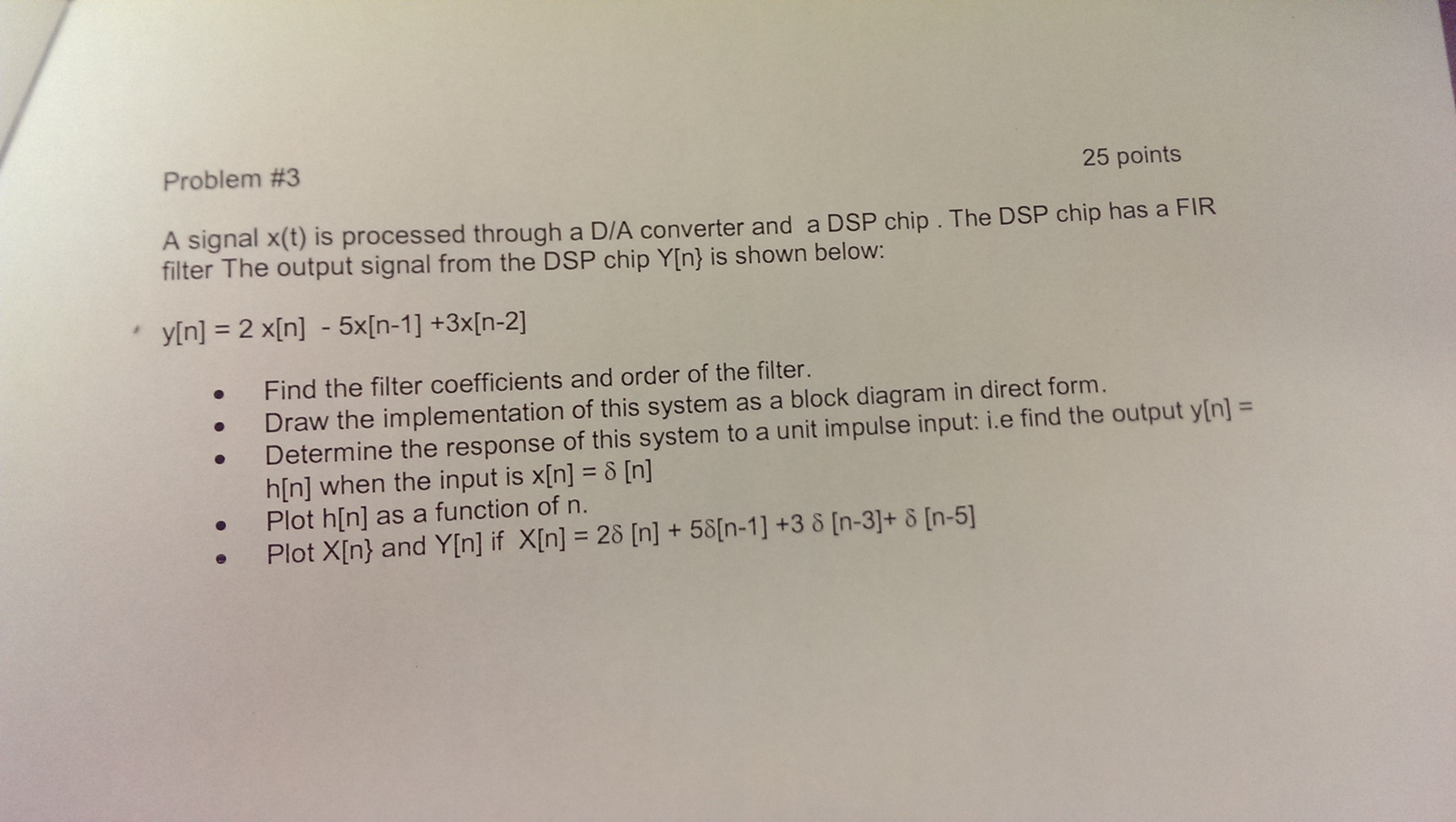 Solved: A Signal X(t) Is Processed Through A D/A Converter