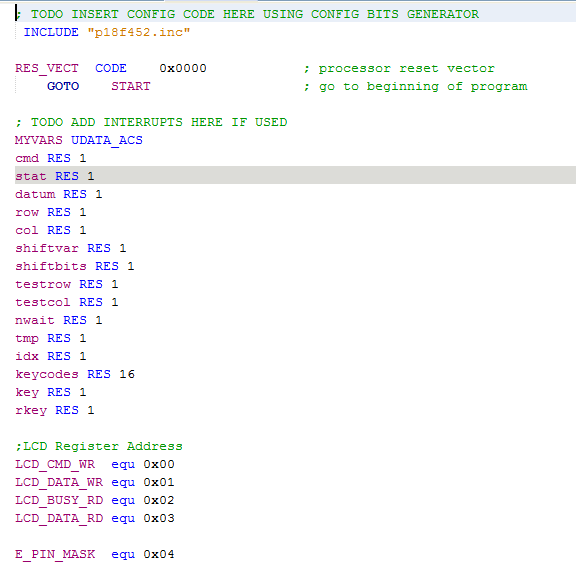 Solved: Implement The Assembly Program For The PIC18F452 M