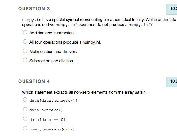 Solved Question 3 100 Numpyf Is A Special Symbol Repr