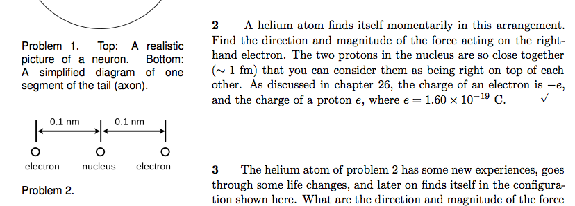 Solved 2 a helium atom finds itself momentarily in this a 2 a helium atom finds itself momentarily in this arrangement find the direction and magnitude ccuart Gallery
