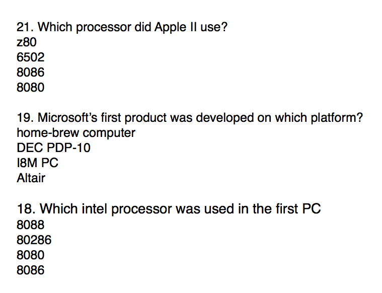 Solved: Which Processor Did Apple II Use? Z80 6502 8086 80
