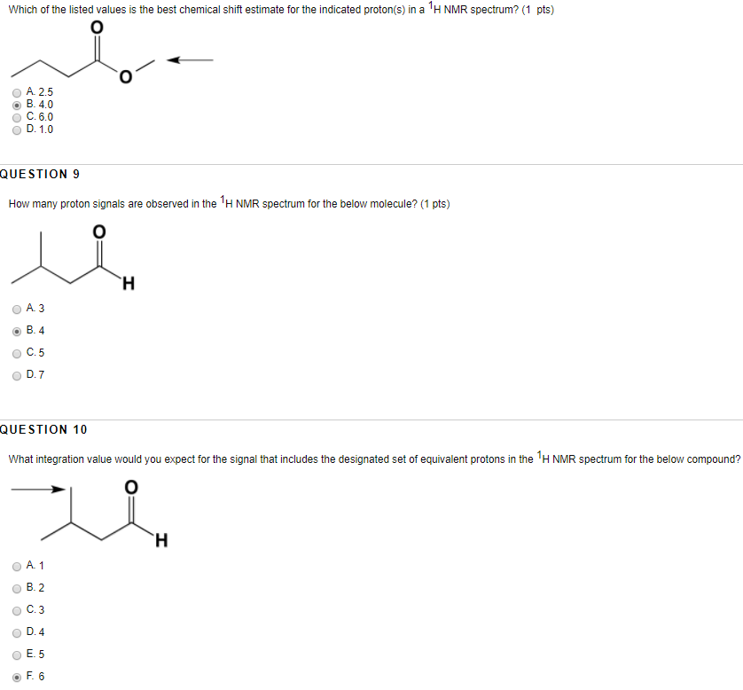 Solved Which Of The Listed Values Is The Best Chemical Sh