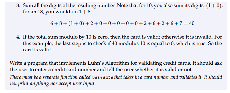 5 com Luhn's 2 luhns Chegg Exercise Solved Algorithm py Provides
