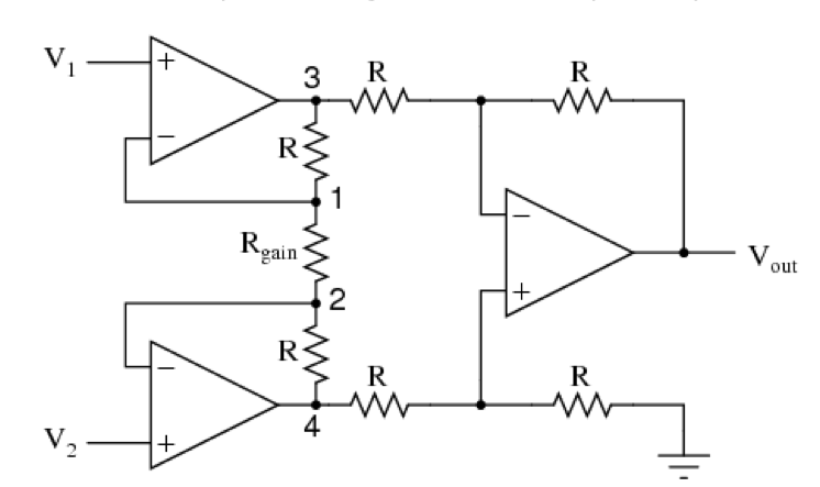 solved problem 4 in the instrumentation amplifier circui rh chegg com 1000W Power Amplifier Circuit Diagrams MOS FET Audio Amplifier Circuit