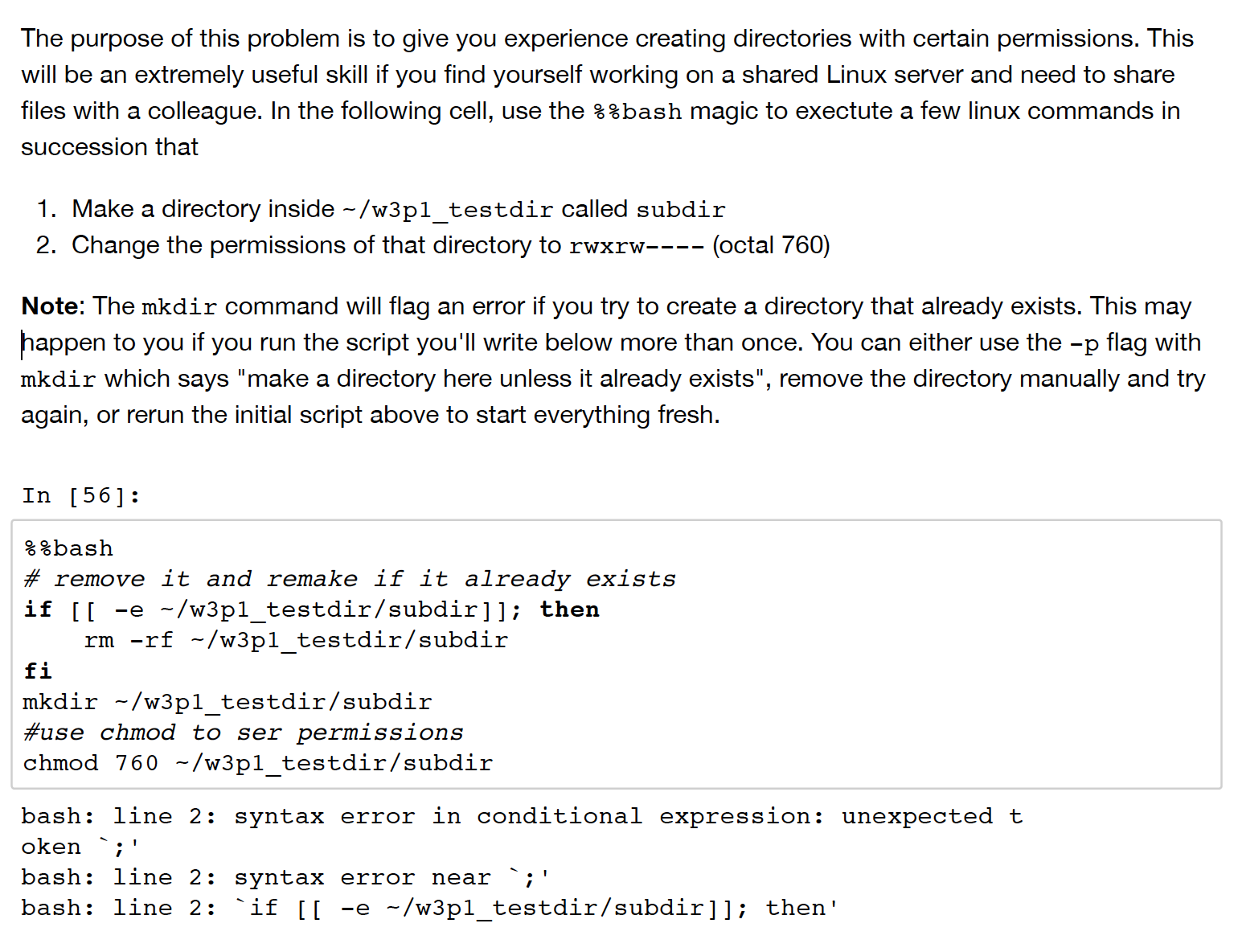 Solved: File Permissions In Unix Command And Python, I Hav