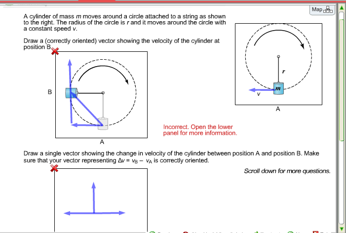 Solved: Map Dd A Cylinder Of Mass M Moves Around A Circle