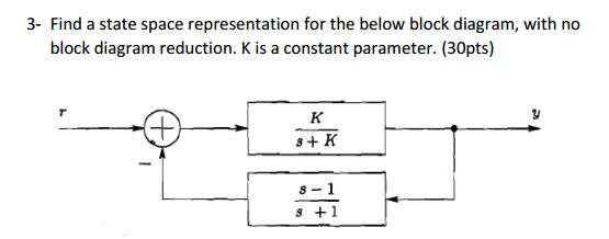solved find a state space representation for the below bl rh chegg com block diagram to state space example block diagram to state space matlab