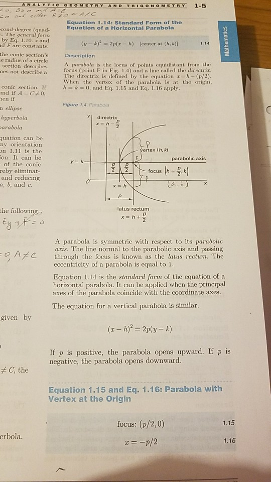 Solved I Would Like To Know How The Standard Form Equatio