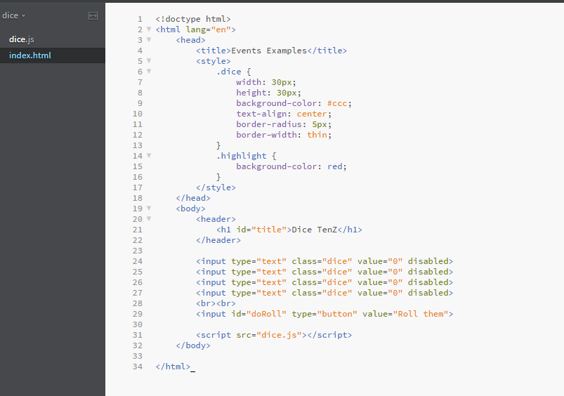 Examples Html Code Is The Same In Both  Please Exp